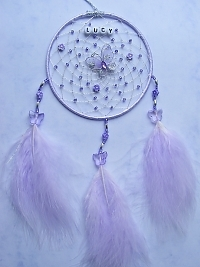 Butterfly Lilac Dreamcatcher