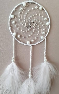 White Wedding Dreamcatcher