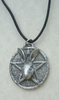 Hare Pentacle Pewter Pendant