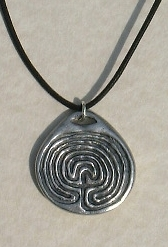 Labyrinth Pewter Pendant