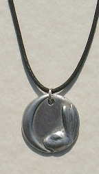 Moon Hare Pewter Pendant