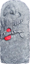 African Grey Parrot What's Mine Plaque