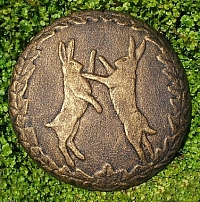 Boxing Hares Wall Plaque