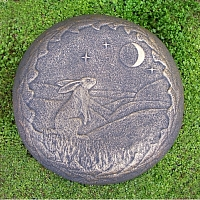 Moon Gazing Hare Wall Plaque