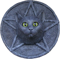Wiccan Cat Plaque