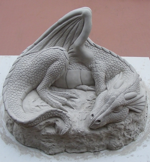 The Making Of A Sleeping Dragon Sculpture